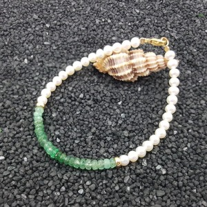 Image 4 - LiiJi ייחודי טבעי אמרלד מים מתוקים פרל חרוזים 925 סטרלינג כסף זהב צבע/גולדפילד צמיד נחמד מתנה עבור נשים