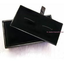 Caja de joyería negro gemelos gemelos caja de regalo Cajas de transporte boite un bijoux 10 unids/lote por mayor el envío libre