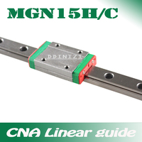 15mm Lineaire Gids MGN15 100 150 200 250 300 350 400 450 500 550 600 700mm lineaire rail + MGN15H of MGN15C blok 3d printer CNC