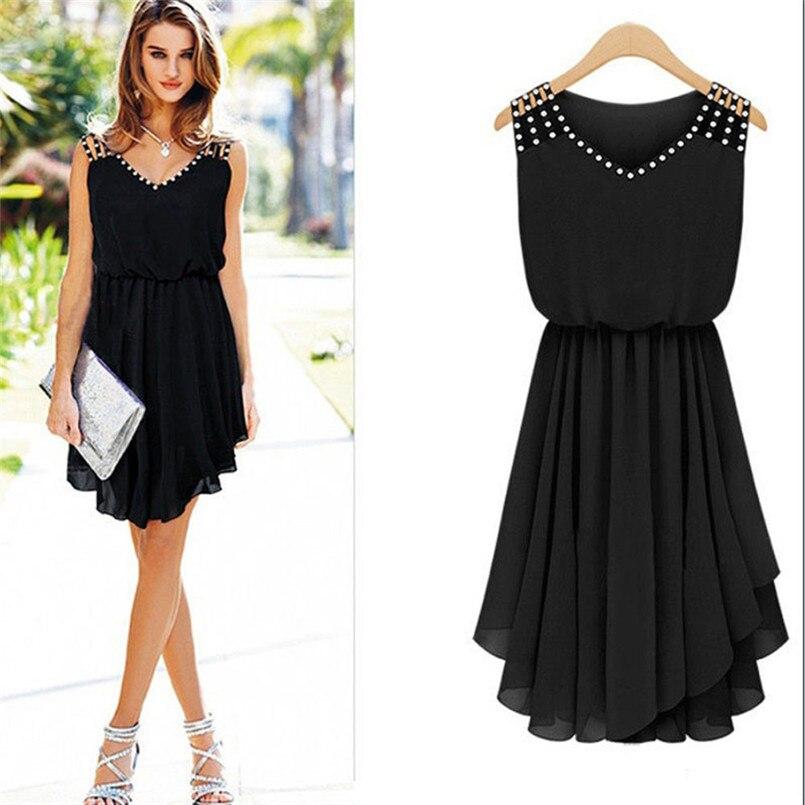 Diamonds sexy dress women summer solid sleeveless dress women summer 2018 knee-length vestidos mujer 2018 casuales40dc18