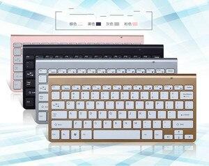 Image 5 - Teclado inalámbrico portátil para Mac portátil caja de TV 2,4G Mini teclado y ratón de suministros de oficina para IOS Android ganar 7 10