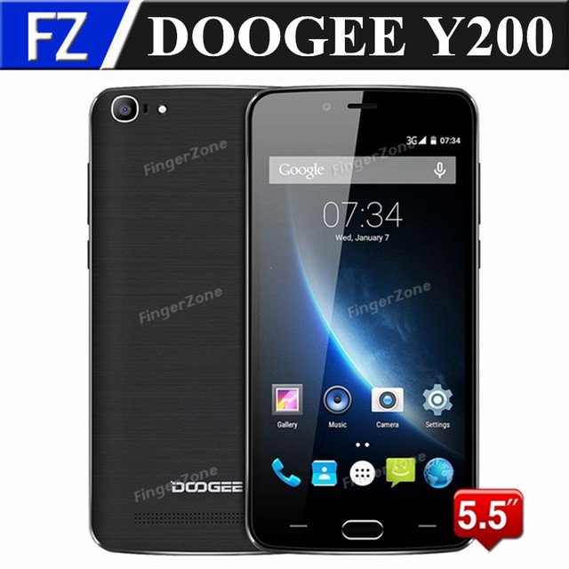 "Original Doogee Y200 5.5"" IPS HD MTK6735M Quad Core Android 5.1 4G FDD LTE smartphone 8MP 2GB RAM 32GB ROM dual sim Fingerprint"