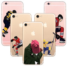 New ice hockey Famous Sports Musician Design Soft TPU Silicon Phone Case Coque Cover for iphone 5s SE 6 6s 7 7plus Capa Case