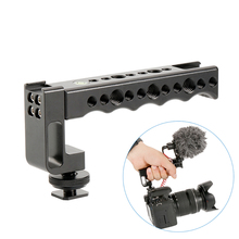 Top Handle Grip Hot Shoe Cold Shoe Cheese Handle with Anti-off Designed Cold Shoe Adapter+15mm Rod Clamp for Canon Nikon Sony