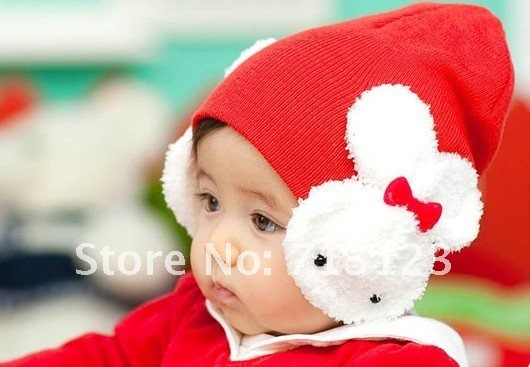 8 colors Specials Cotton Flax ,Ear muff rabbit cap, the rabbit ear protection cap / rabbit baby hat / headgear,Free shipping new