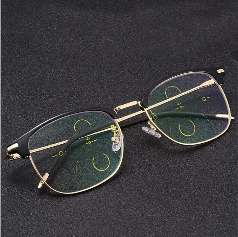 00a83e43bb SOOLALA Semi-Montura de ojo de gato gafas de lectura de los hombres y las