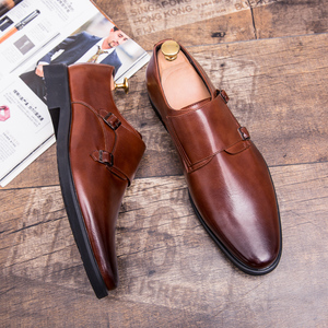 Image 2 - ZIMNIE Brand Men Classic Buckle Thick Bottom Dress Shoes Men Handmade Luxury Formal Business Office Shoes Genuine Leather Shoes
