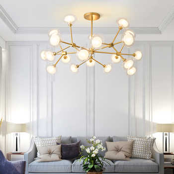 LED Modern Chandeliers Design for Living Room Bedroom Iron Indoor Lighting Fixture Design Creative Hanging Lamps Home Decoration - DISCOUNT ITEM  24% OFF All Category