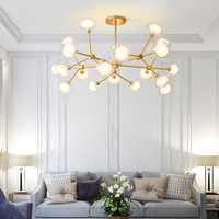 LED Modern Chandeliers Design for Living Room Bedroom Iron Indoor Lighting Fixture Design Creative Hanging Lamps Home Decoration