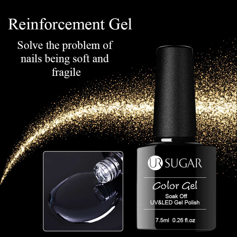 UR SUIKER 7.5ML Versterking Gel Nail Protector Nail Dikte Enhancer Losweken Geen Veeg Top Base Coat Nail Art UV Gel