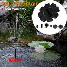 Outdoor Solar Powered Bird Bath Water Fountain Pump For Pool, Garden, Aquarium Outdoor Tools