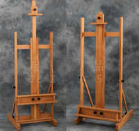 Red beech wooden oil painting easel exhibition stand wooden painting easel poster display painting frame display stand cavalete