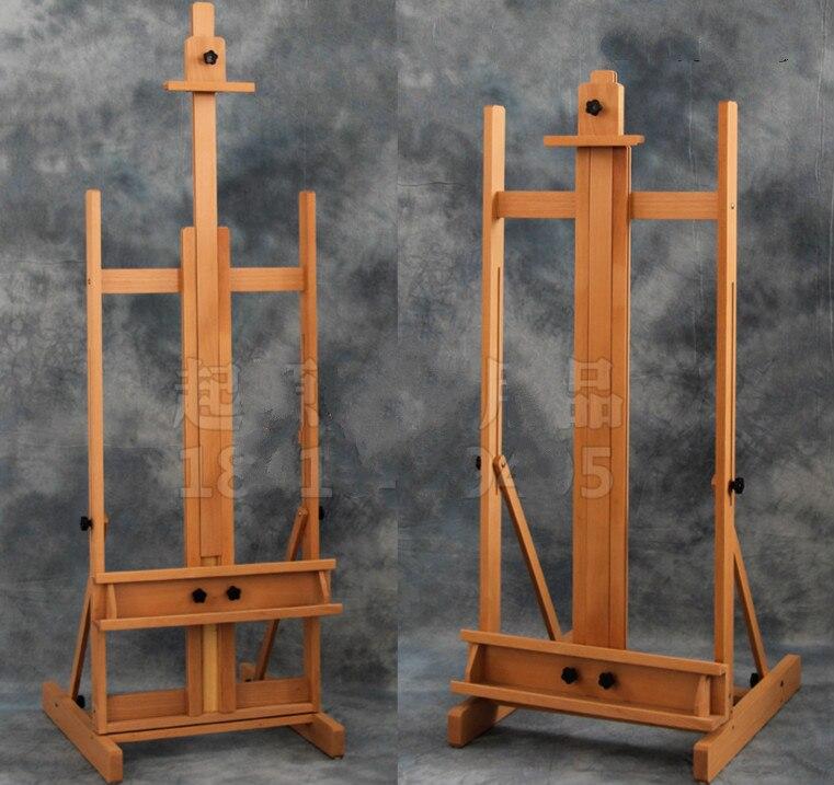 Rojo de madera de haya de aceite pintura caballete soporte de exhibición de madera de pintura caballete cartel de pintura del soporte de exhibición de cavalete