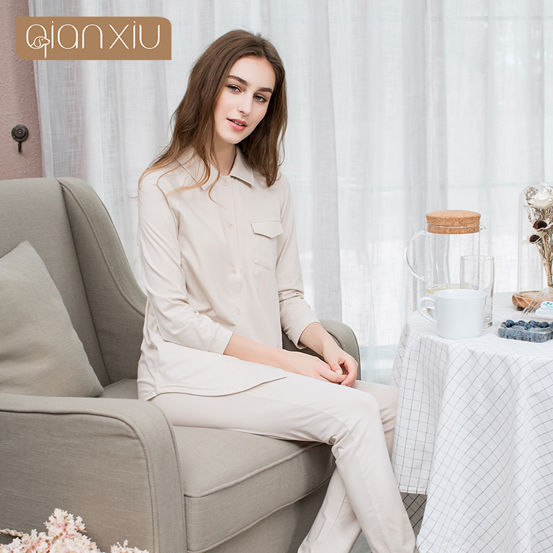 AQianxiu 2017 Brand new hot style European style PJS suit and modal breathable sets 9178 ...