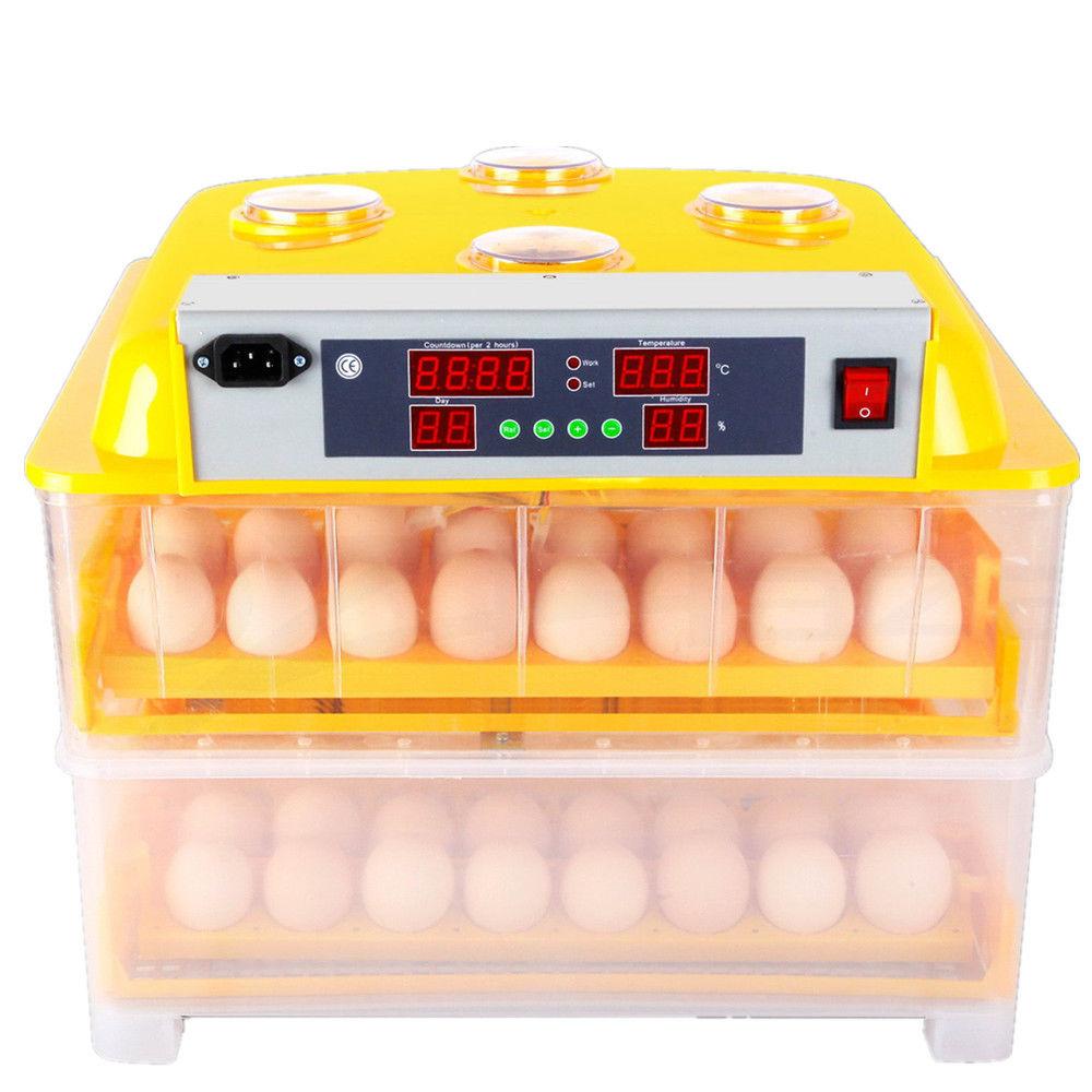 NEW 96 Eggs Digital Automatic Incubator Poultry Chicken Duck Bird Egg Inkubator