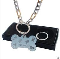 2016 Znak Pies Zwierzę marka naszyjnik zwierzę pies anti pamiętasz profesjonalne niestandardowe lh1094 napis kolor złoty naszyjnik darmowa wysyłka