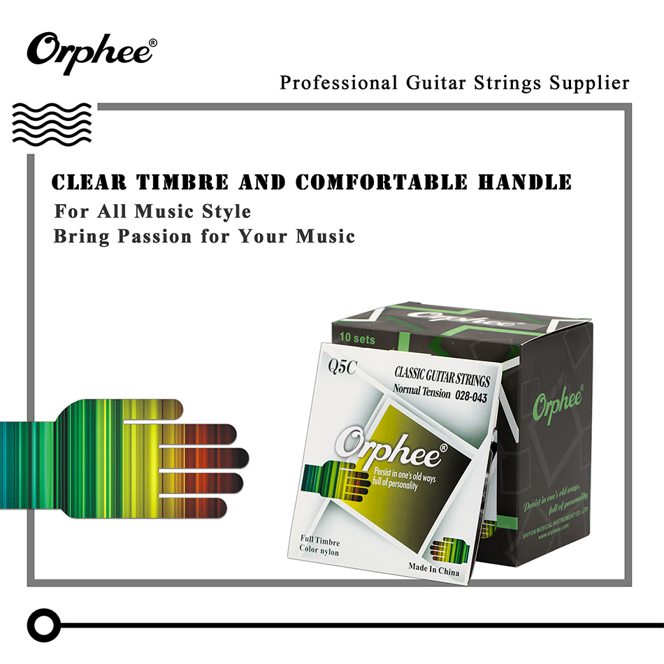 orphee q5c black nylon classical guitar strings set black nylon pure copper wound classic guitar. Black Bedroom Furniture Sets. Home Design Ideas