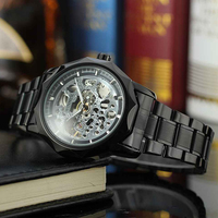 Winner Business Mens Watches Luxury Mechanical Belt Relogio Masculino Automatic Wristwatch Skeleton Watches With Gift Box