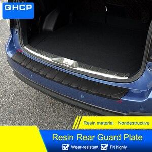Image 2 - QHCP Resina Tronco Tagliare Lamiera di Protezione Paraurti Posteriore Protector Coda Strisce di Copertura Per Subaru Forester XV Outback 2013 2019 car Styling
