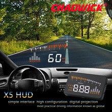 Originele X5 Hud Head Up Display Auto Hud Head Up Display Auto Styling Snelheid Alarm Obd Ii Head Up display OBD2 Interface Chadwick