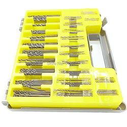 150 pces hss micro bit conjunto de broca de torção kit mini pequena precisão hss broca elétrica 0.4mm-3.2mm pcb broca artesanato buraco maker + caso