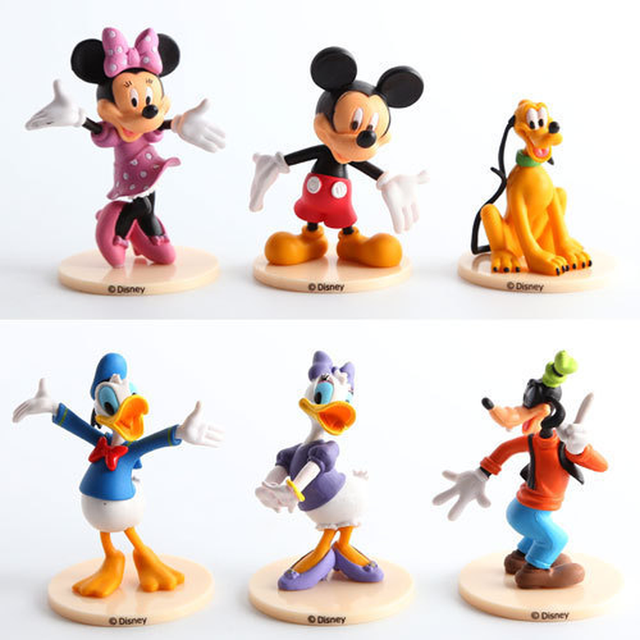 Disney Mickey Mouse Action Figures 6 Pcs/set  7-9cm