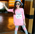 Girls Clothing Sets Autumn Long Sleeve T-shirt+Pants Tracksuit Cotton Clothes Suit Children's Sports Suits Kids Set 3-11 Years