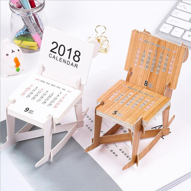 mini cute rocking horse desk decoration 2018 calendar note scheduling supplies 2018 table calendar notepads daily