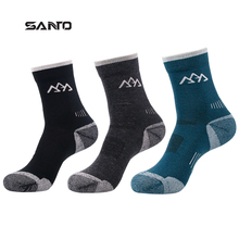 SANTO 2 Pairs S017 High Quality Men Wool Thick Socks Wicking Breathable Deodorant Anti-Mite Thermal Sports Footwear