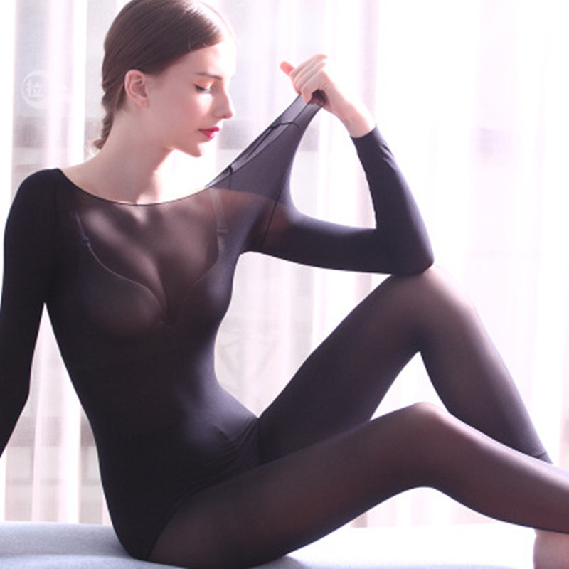 ZYSK 37 Degree Constant Temperature Thin Winter Thermal Underwear For Women Warm Suit Sexy Bodycon Female Second Skin Long Johns