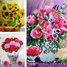 Dinamond Painting 5D diamond embroidery for Decoration Flowers Design Round drill Floral Diamond Mosaic Wall Decor