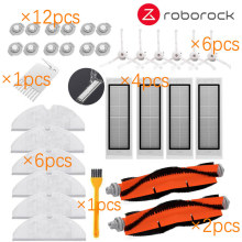 for Xiaomi Roborock Robot S50 S5 Vacuum Cleaner Spare Parts Kits Mop Cloths Wet Mopping filter Side Brush Roll Brush Water Tank 4pcs original roborock parts mop cloths for xiaomi vacuum cleaner generation 2 dry wet mopping cleaning