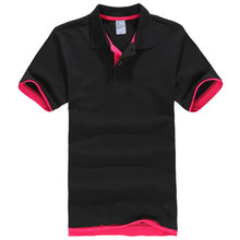 New Fashion Mens Polo Shirt 2018 Summer Hot Casual Solid Men Polo Shirt Cotton Turn-Down Collar Women Polo Shirts(China)