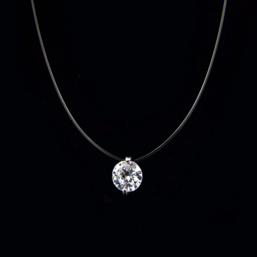 Women's Pendant Necklace Fish Bone Design Rhinestone Crystal Fashion Jewelry necklace pendant watch