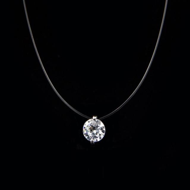 Collier invisible diamant