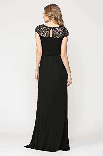 Robe de maternité pour femmes avec des robes de soirée en dentelle longue femme enceinte robes formelles pour femmes robes de fête et de mariage - 5