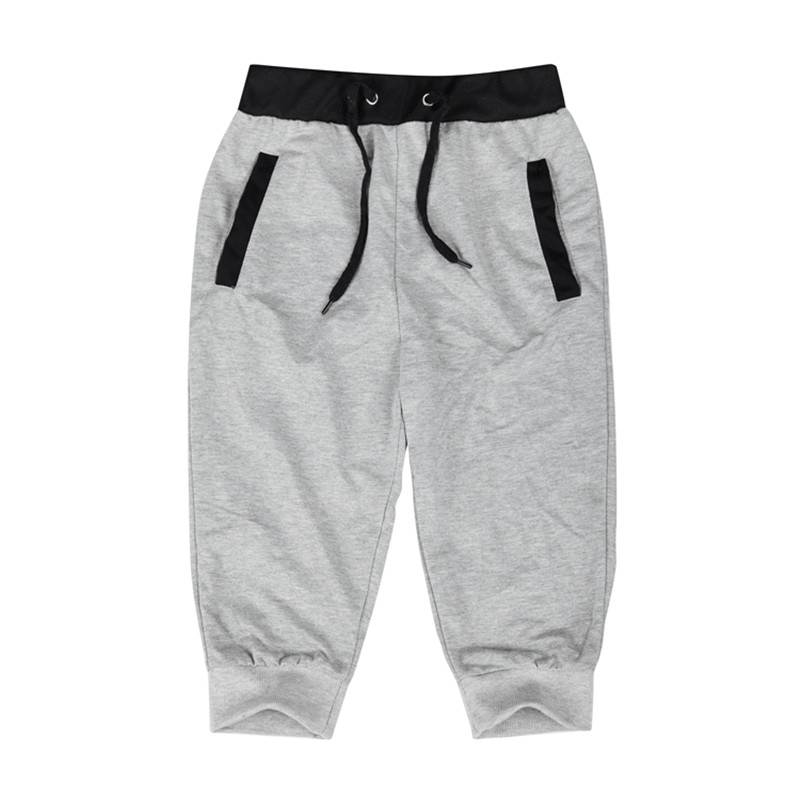 Men Leisure Knee Length Shorts Patchwork Joggers 1