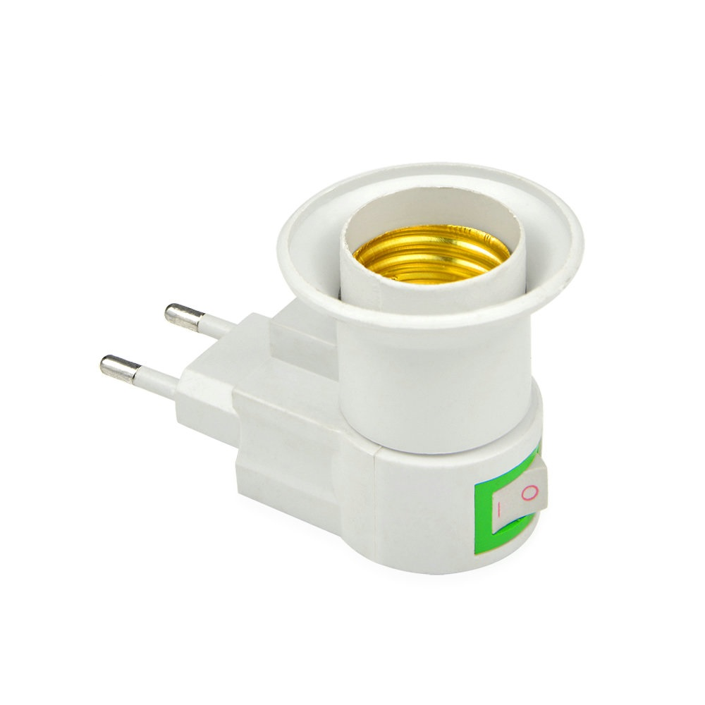 1PCS E27 LED Lamp Light Socket Base Type to 110V 220V EU Plug Bulb ... for Bulb Holder With Plug  75sfw