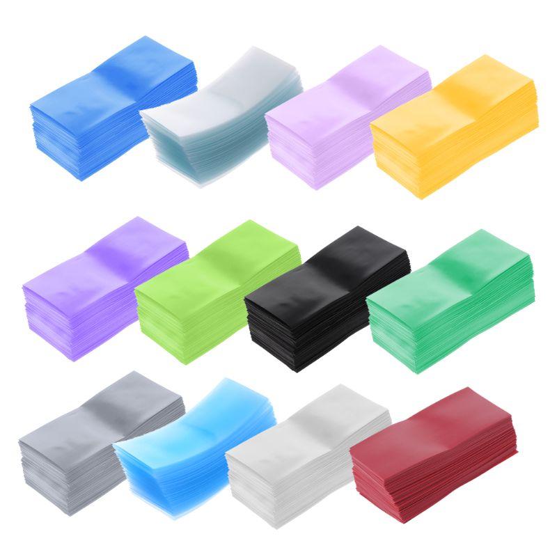 100Pcs/Bag 18650 Lithium Battery Encapsulation Tube PVC Heat Shrink Tubing Wrap Battery Cover Skin Insulation Film