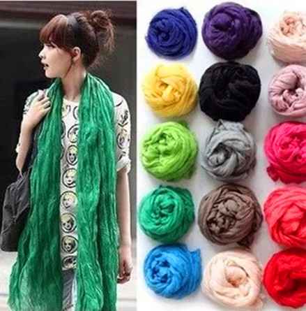 2014 Winter American and Europe hottest women fashion solid cotton voile warm soft silk scarf shawl