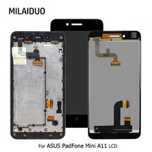 LCD Display For ASUS PadFone Mini A11 Touch Screen Digitizer Assembly Replacement Black with Frame High Quality 100% Tested lcd for asus padfone s pf500kl pf 500kl lcd display touch digitizer assembly by free shipping black