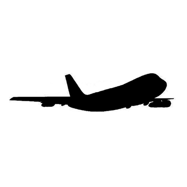 22*5CM PLANE SILHOUETTE Car Sticker Decal Cartoon Plane ...