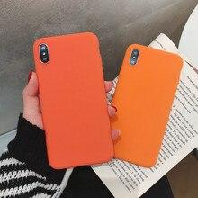 Fashion Orange Solid Color Cover Case For Xiaomi