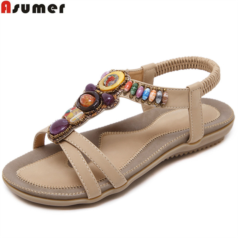ASUMER 2018 fashion summer ladies shoes new arrival casual shoes woman simple Famous wind comfortable women sandals new women sandals low heel wedges summer casual single shoes woman sandal fashion soft sandals free shipping