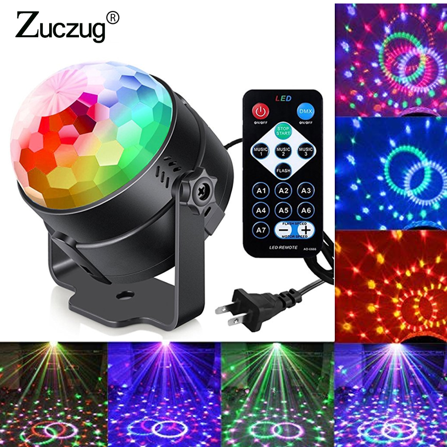 Sound Activated 7 Colors DJ Disco Ball Lumiere 3W novelty lights Laser Projector RGB Stage Lighting effect Lamp KTV Music Party Sound Activated 7 Colors DJ Disco Ball Lumiere 3W novelty lights Laser Projector RGB Stage Lighting effect Lamp KTV Music Party
