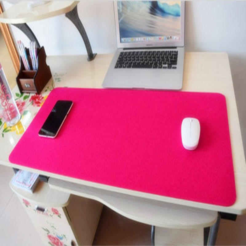 large mouse pad felt desk pad extent mouse pad gaming mouse pad office desk mat blue red black. Black Bedroom Furniture Sets. Home Design Ideas