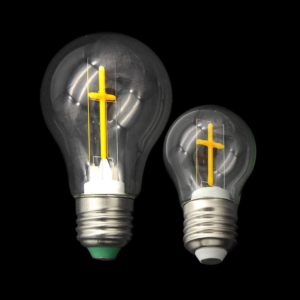 Filament E27 Cross Bulb 3W 4W Global Clear Glass AC110V 220V Indoor Retro Christian Cros ...