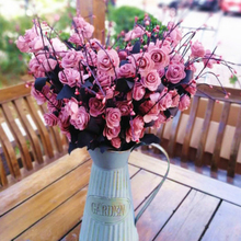 ФОТО 10pcs autumn 8 heads/bouquet small bud roses bract simulation flowers silk rose decorative flowers home decorations for wedding