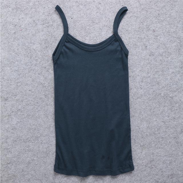 Women's Plain U-neck, Stretchable, Slim Tank Top.