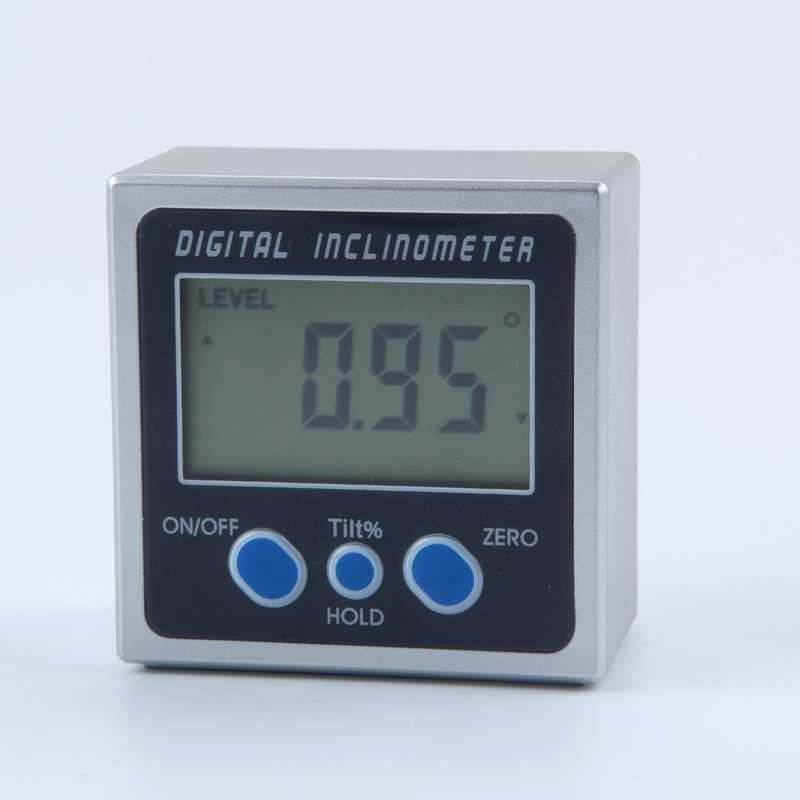 Electronic Inclinometer PRO 360 Degrees LCD Digital Bevel Box Angle Gauge Meter ABS Plastic Mini Protractor With Magnet Base